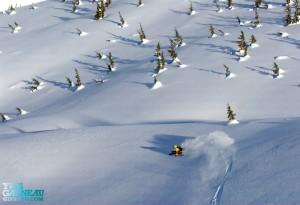 Photo of Noddy Gowans Professional Skier Heli skiing in Canada