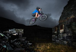 Ben Savage - Trials Mountain Biking Photoshoot for Dare2be Wales